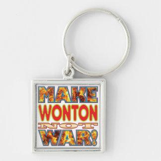 Wonton Make X Silver-Colored Square Key Ring