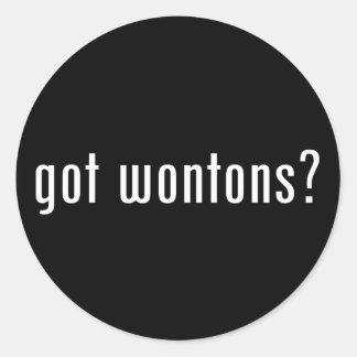 wonton round sticker