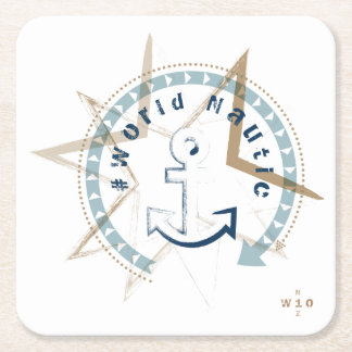 WONZ Limited world nautic by shirt to design Square Paper Coaster