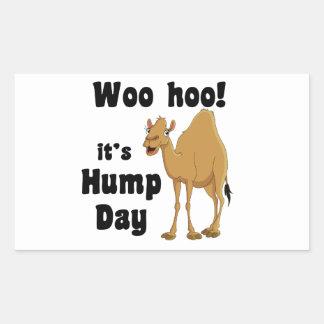 Woo hoo!  It's hump day Rectangular Sticker