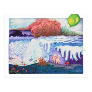 Woobies Waterfall Postcard