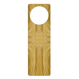 Wood Abstract Pattern Door Hanger