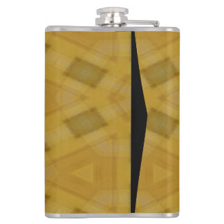 Wood abstract pattern hip flask