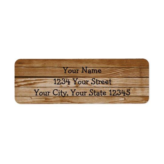 Wood Address Label