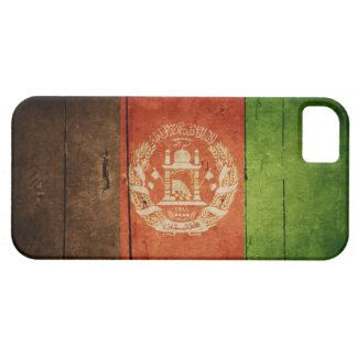 Wood Afghanistan Flag; Afghan iPhone 5 Cover
