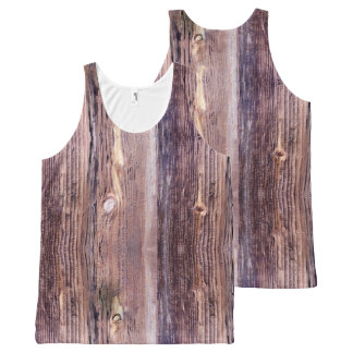 Wood All-Over Print Tank Top