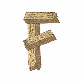 Wood Alphabet F Polo Shirt