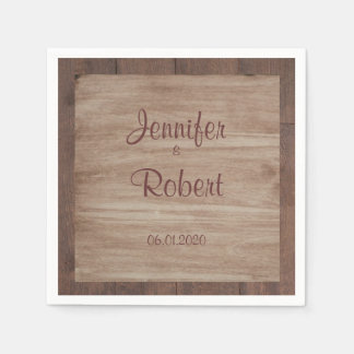 Wood and Birch Country Wedding Napkin Disposable Serviette