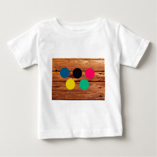 Wood and colour baby T-Shirt