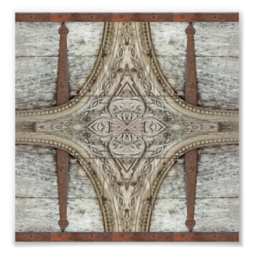 Wood and Iron Ornament Artwork Photo Art