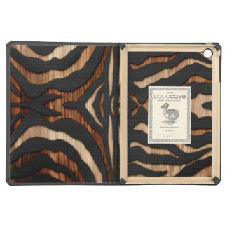 Wood and Leather Zebra Print Cover For iPad Air