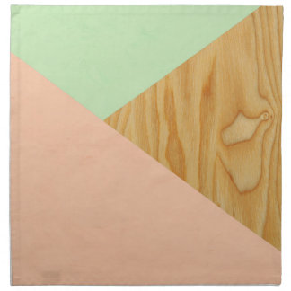 Wood and Pastel Abstract Napkin