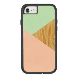 Wood and Pastel Abstract pattern Case-Mate Tough Extreme iPhone 8/7 Case