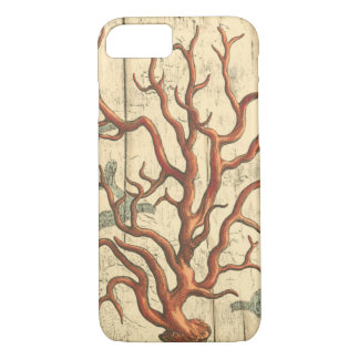 Wood and Small Coral iPhone 8/7 Case