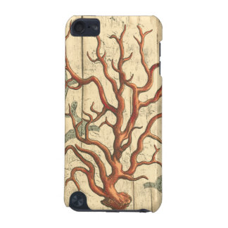 Wood and Small Coral iPod Touch (5th Generation) Cover