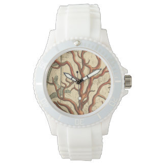 Wood and Small Coral Watch