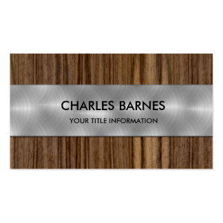 Wood and Steel Business Card