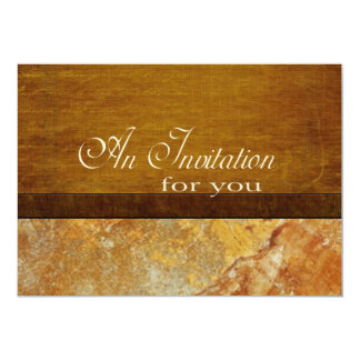 Wood and Stone Business Executive Retirement 13 Cm X 18 Cm Invitation Card
