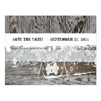 Wood and Wood Save the Date Postcard