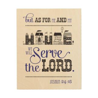 Wood Art Bible fresh one Joshua 24:15