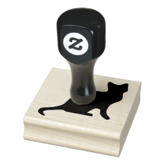 Wood Art Stamps/Cat Rubber Stamp