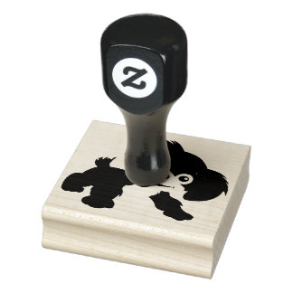 Wood Art Stamps/Puppy Rubber Stamp