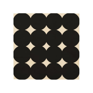 Wood art with black dots