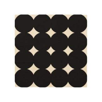 Wood art with black dots wood prints