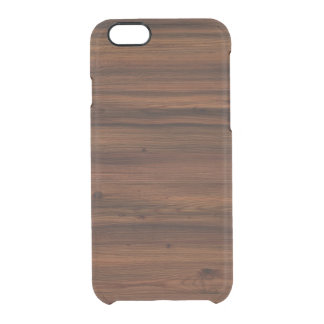 Wood background clear iPhone 6/6S case