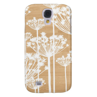 Wood background flowers girly floral pattern galaxy s4 case