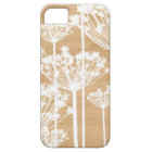 Wood background flowers girly floral pattern iPhone 5 case