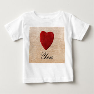 Wood background Love you Baby T-Shirt