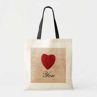 Wood background Love you Tote Bag