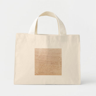 Wood background mini tote bag