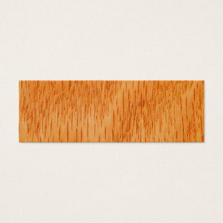 Wood Background - Smooth Bamboo Grain Customized Mini Business Card