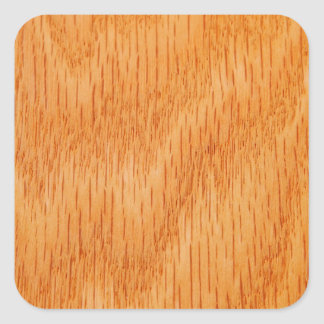Wood Background - Smooth Bamboo Grain Customized Square Sticker