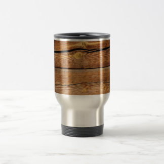 Wood Background Travel Mug