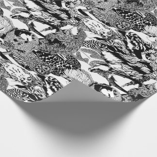 Wood Badge Critter Montage Wrapping Paper