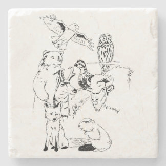 Wood Badge Critters Stone Coaster