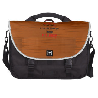 Wood Base Lyer Add Your own Text Laptop Computer Bag