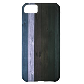 Wood Blue/White Stripe 5c Cover For iPhone 5C