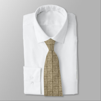 wood board French Oak half drop repeat pattern tie