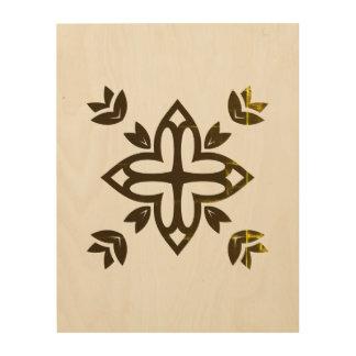Wood board with Mandala art
