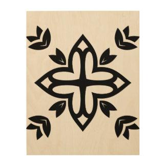 Wood board with Mandala Wood Prints