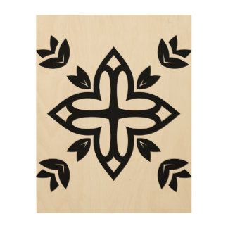 Wood board with Mandala Wood Wall Art