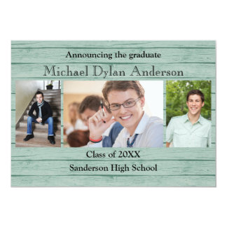Wood Boards Background - Graduation Party Card