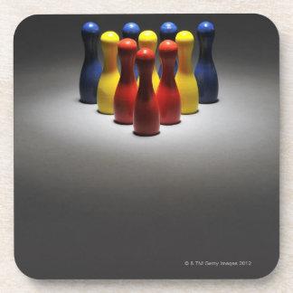 Wood Bowling Pins Coaster