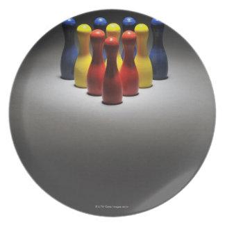 Wood Bowling Pins Plate