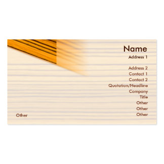 Wood - Business Business Card Template