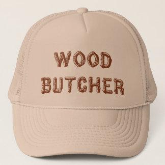 Wood butcher hat